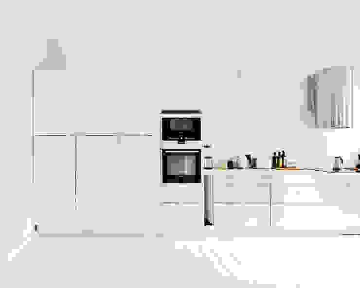 Projekty,  Salon zaprojektowane przez lifelife GmbH, Skandynawski