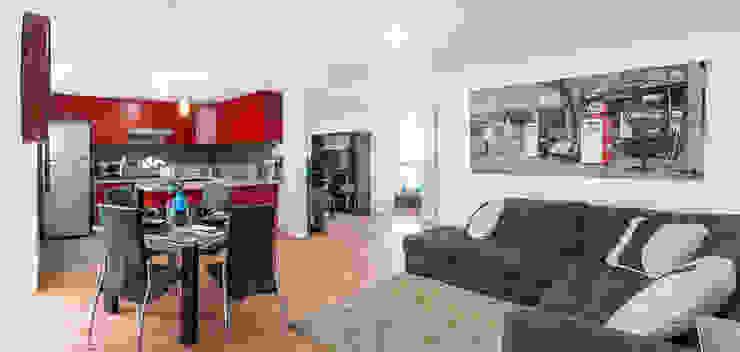 Vista general interior de departamento Casas modernas de RECON Arquitectura Moderno
