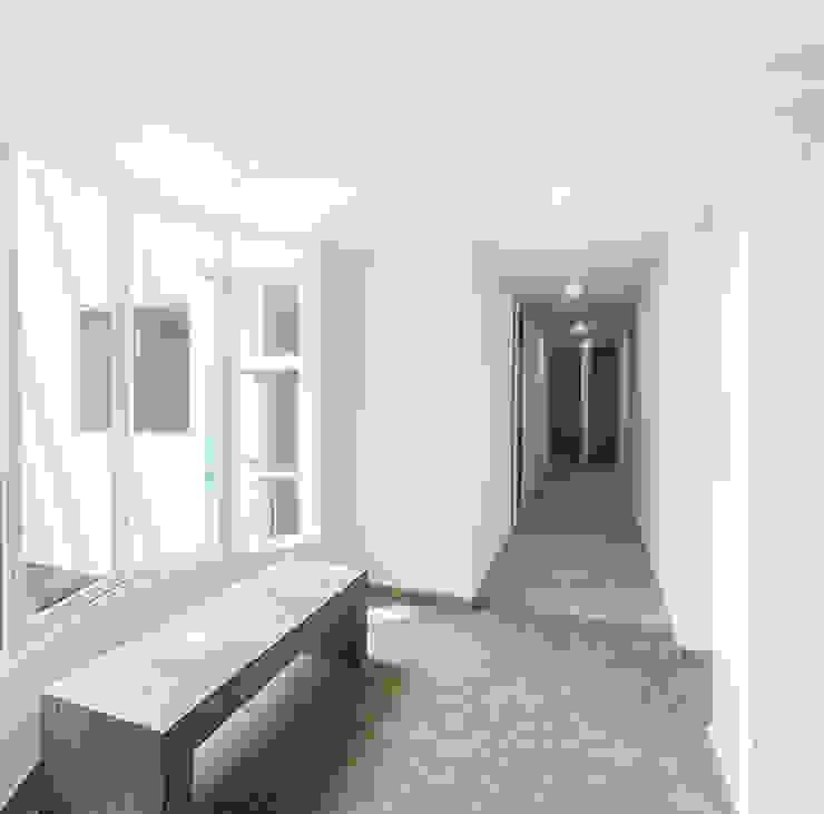 Vestíbulo en área de residencias Casas modernas de RECON Arquitectura Moderno