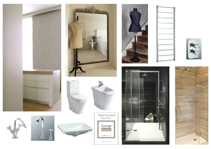 Initial inspiration board for the space: classic  by Concept Interior Design & Decoration Ltd, Classic