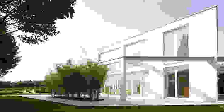 Projekty,  Domy zaprojektowane przez brandl architekten . bda, Minimalistyczny