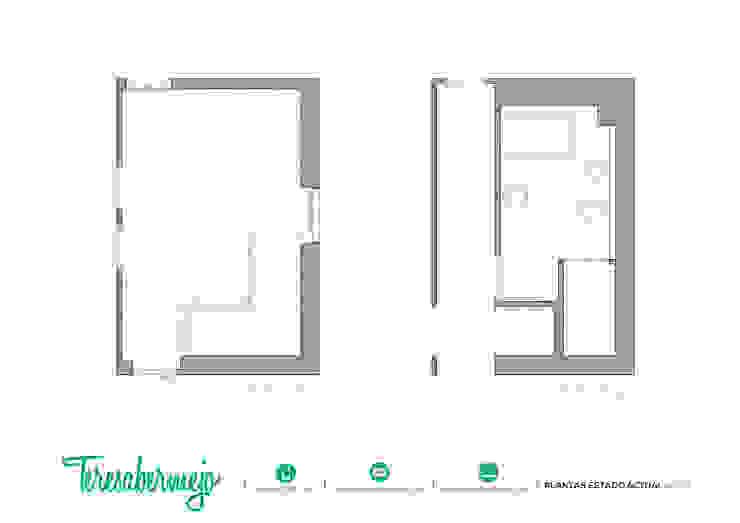 Plantas estado actual de Diseñadora de Interiores, Decoradora y Home Stager Rústico