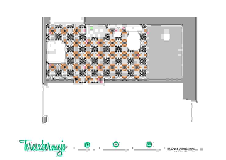 Planta propuesta de Diseñadora de Interiores, Decoradora y Home Stager Rústico
