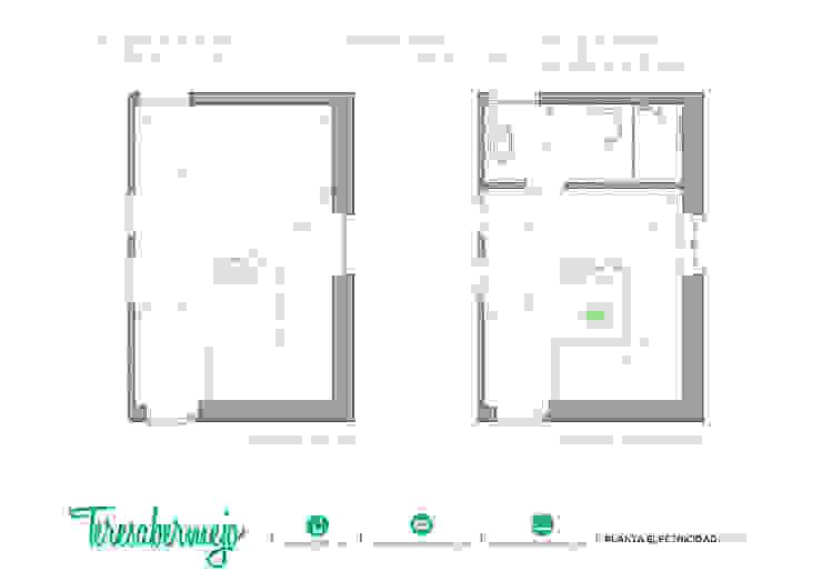 Planta electricidad de Diseñadora de Interiores, Decoradora y Home Stager Rústico