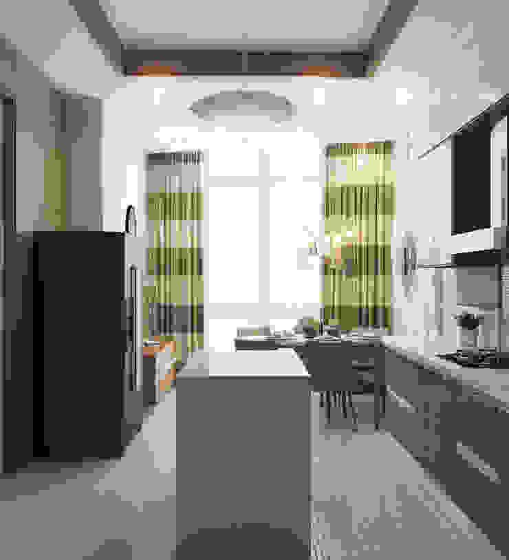 Кухня-столовая Кухня в стиле модерн от Студия Искандарова Модерн