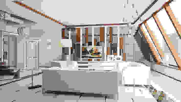 Salas de estar modernas por Студия Искандарова Moderno