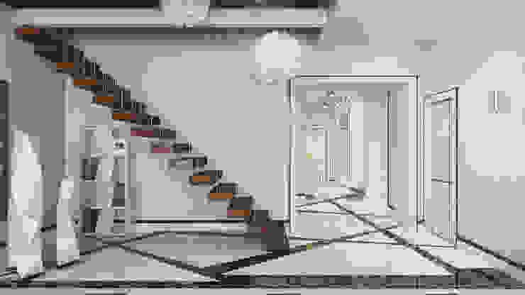 Modern Corridor, Hallway and Staircase by Студия Искандарова Modern