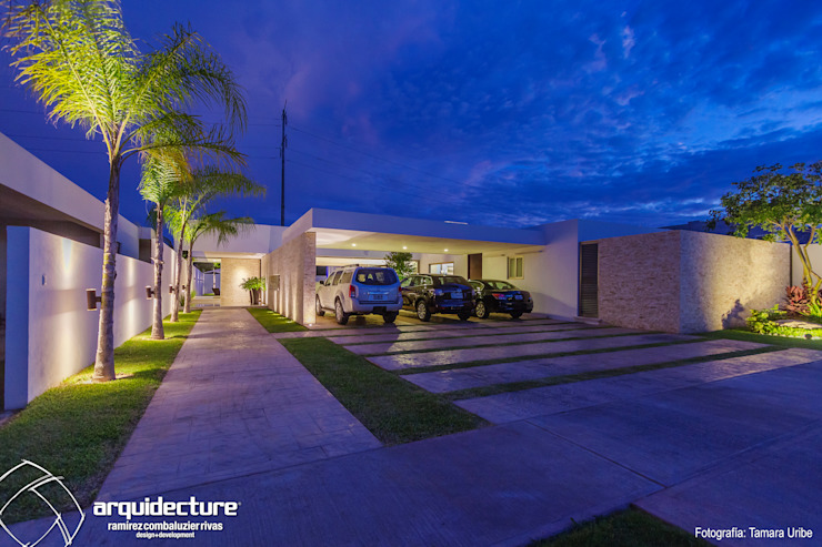 Carport by Grupo Arquidecture, Modern Stone