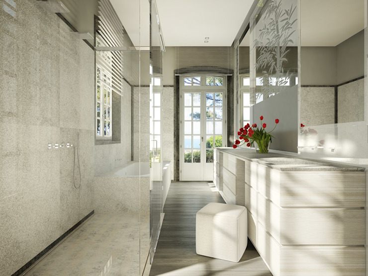 Classic style bathroom by Berga&Gonzalez - arquitectura y render Classic