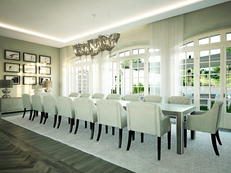 Classic style dining room by Berga&Gonzalez - arquitectura y render Classic