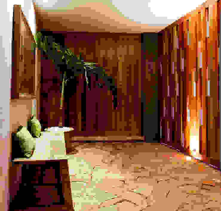 Montebello 332 Pasillos, vestíbulos y escaleras modernos de Jorge Bolio Arquitectura Moderno