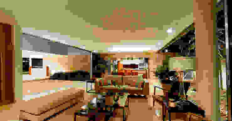 Salones de estilo moderno de Jorge Bolio Arquitectura Moderno