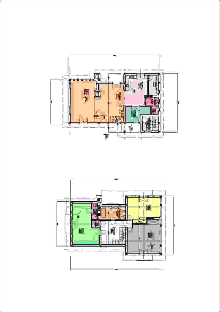Rzuty kondygnacji od Heliolux Design Rustykalny