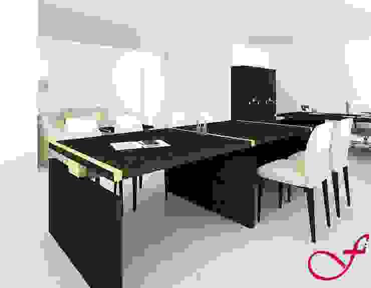table - classic style Complesso d'uffici in stile classico di Fenice Interiors Classico