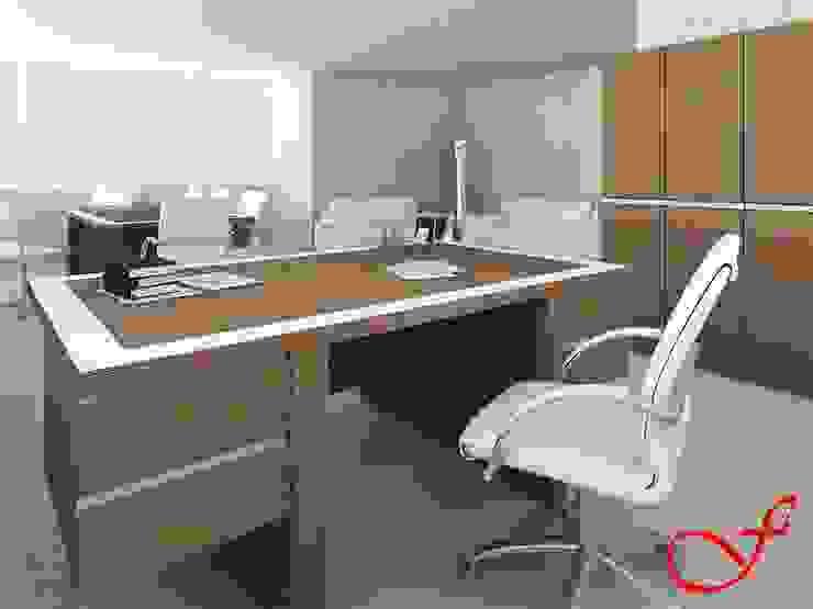 desk - italian style Complesso d'uffici moderni di Fenice Interiors Moderno