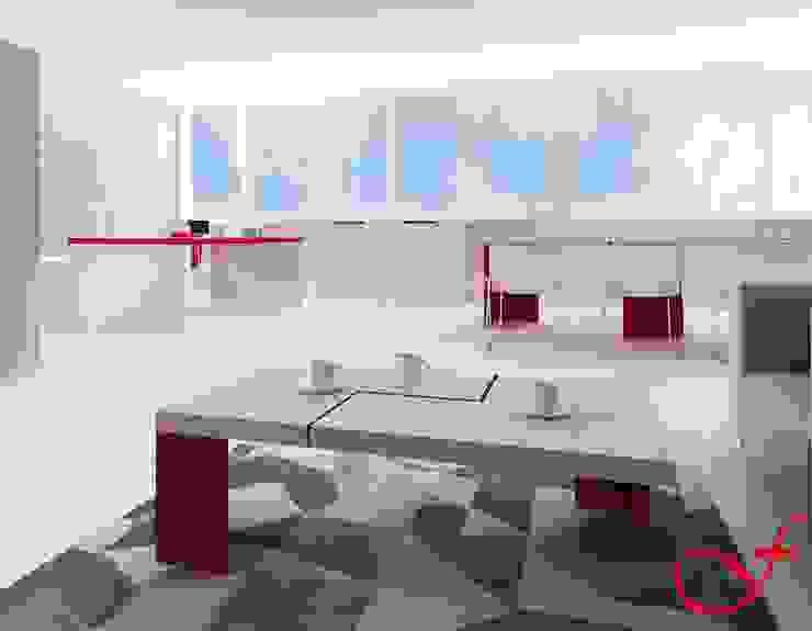 coffee table - modern style Complesso d'uffici in stile minimalista di Fenice Interiors Minimalista