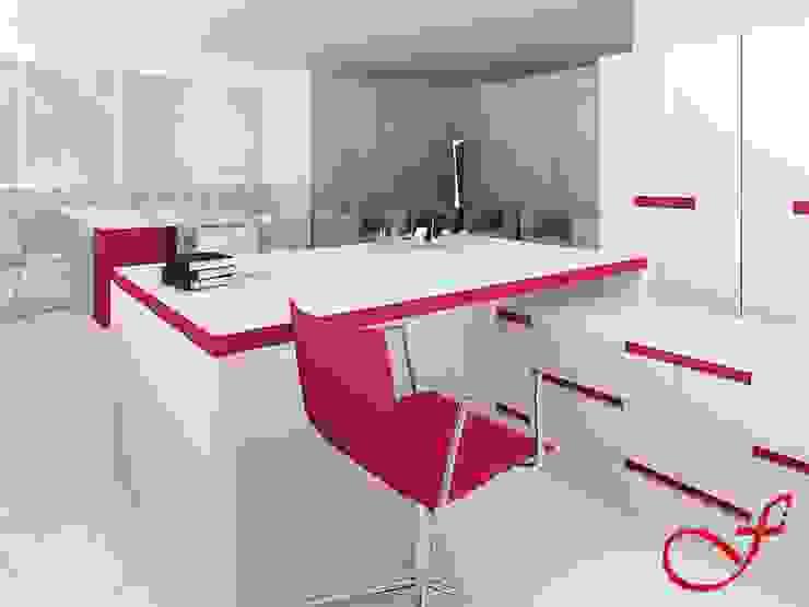 desk - modern style Complesso d'uffici in stile minimalista di Fenice Interiors Minimalista
