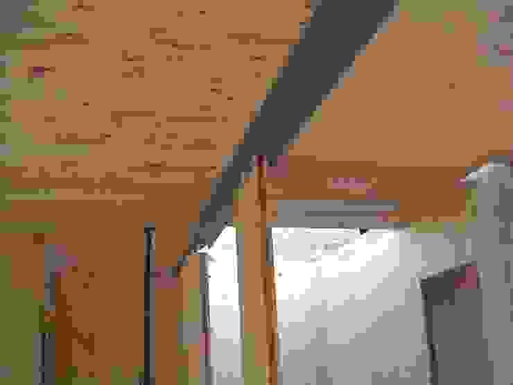 Abitazione bifamiliare con struttura in legno (classe energetica A+) di Arch. Dario Nespoli Moderno