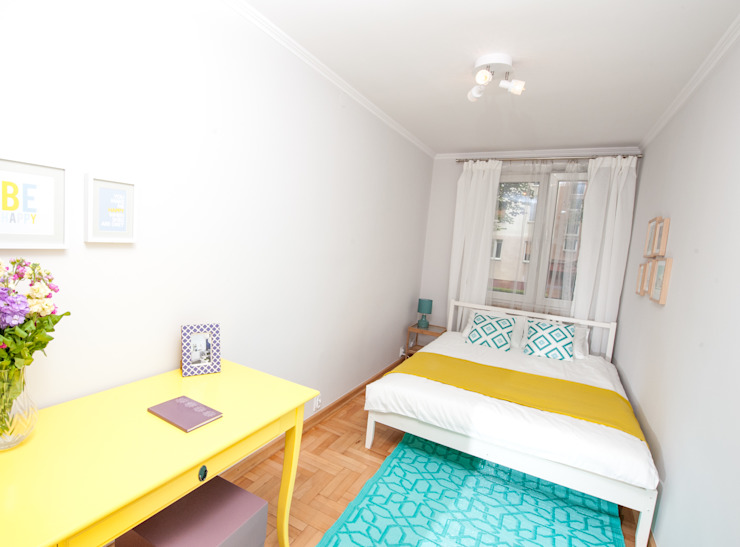 Fresh&Fruity Eklektyczna sypialnia od AgiDesign Eklektyczny