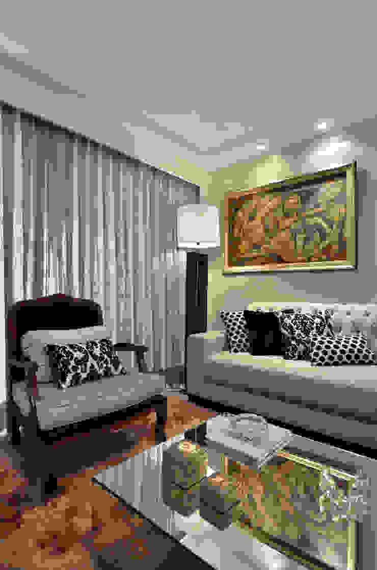 APARTAMETO - TAMARA RODRIGUEZ ARQUITETURA Salas de estar modernas por Tamara Rodriguez Aquitetura Moderno
