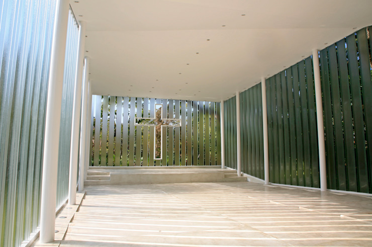 La Estancia Chapel Interior design by BNKR Arquitectura