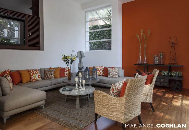 casa Limonero Salones modernos de MARIANGEL COGHLAN Moderno