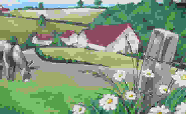 Trompe l'oeil PAYSAGE BUCOLIQUE par Popek décoration Rural