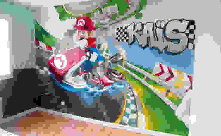 Décoration chambre d'enfant Mario Kart par Popek décoration Moderne