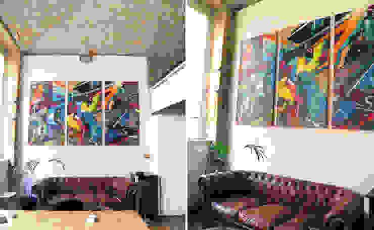 TRYPTIQUE GRAFFITI & ART PRECOLOMBIEN par Popek décoration Moderne
