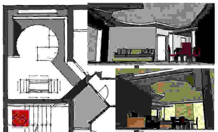 RIVISITAZIONE IN CHIAVE CONTEMPORANEA Soggiorno moderno di GIOIA Biagio ARCHITETTO Moderno