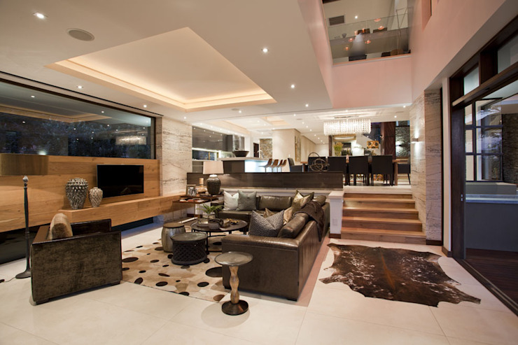SGNW House Metropole Architects - South Africa Modern living room
