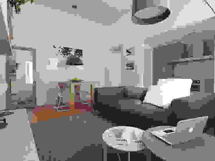 Zona giorno con cucina Case moderne di CSP2 studio Moderno