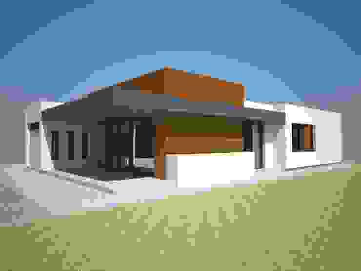 VIVIENDA UNIFAMILIAR Casas de estilo moderno de delamano y hernandez arquitectos Moderno
