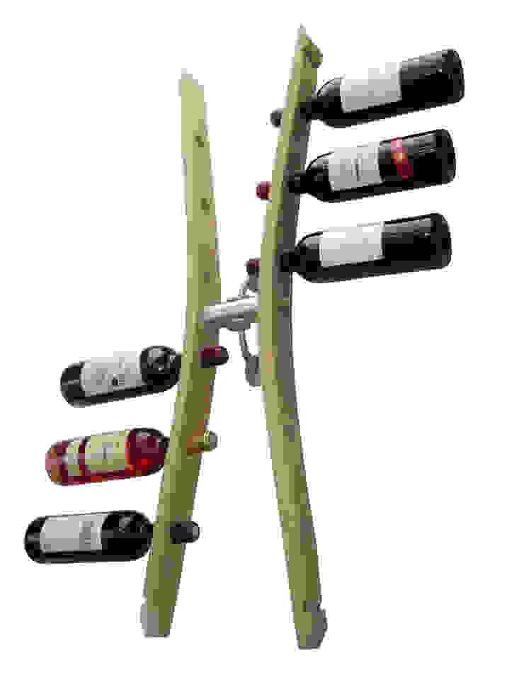 unité de stockage bouteilles de vins, en aménagement de cave, dans la cuisine ... par Douelledereve / Eco design construction