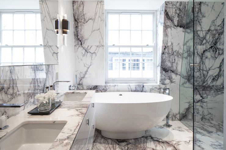 Eaton Mews North - Master Bathroom モダンスタイルの お風呂 の Roselind Wilson Design モダン
