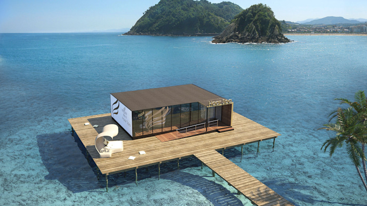 Perspectiva 3D -Spa Spa modernos de Realistic-design Moderno