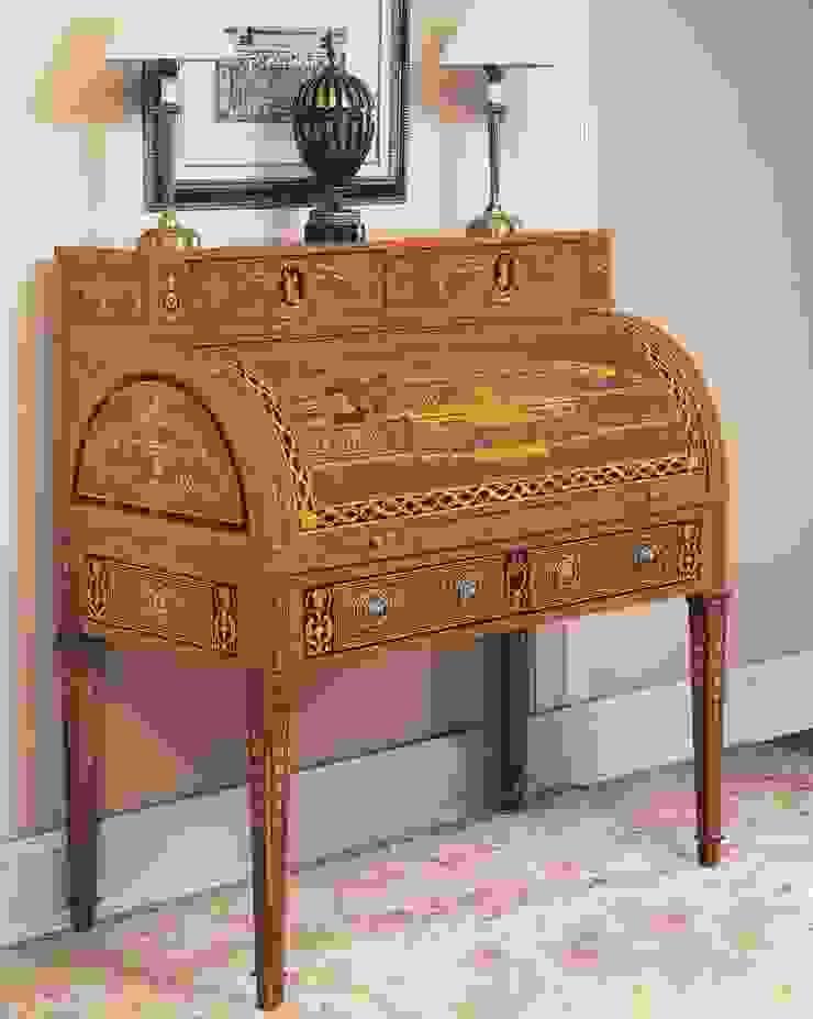 Buró Ruso con Marquetería de Ámbar Muebles Clásico