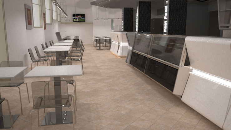 arredamento ristorante pizzeria di STUDIO ARCHITETTURA-Designer1995 Moderno