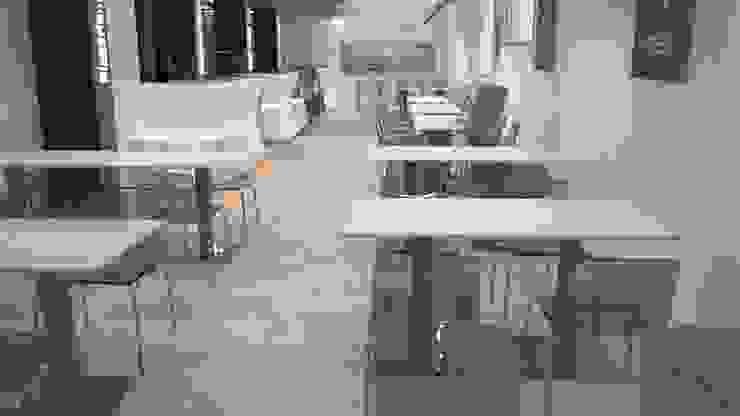 rendering sala ristorante pizzeria di STUDIO ARCHITETTURA-Designer1995 Moderno