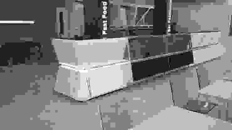 rendering arredamento ristorante di STUDIO ARCHITETTURA-Designer1995 Moderno