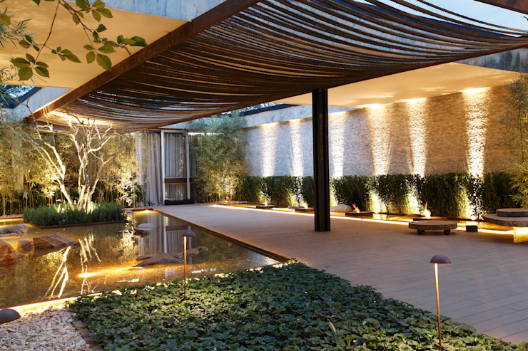 MOSTRA BLACK 2012 Jardins modernos por Hanazaki Paisagismo Moderno