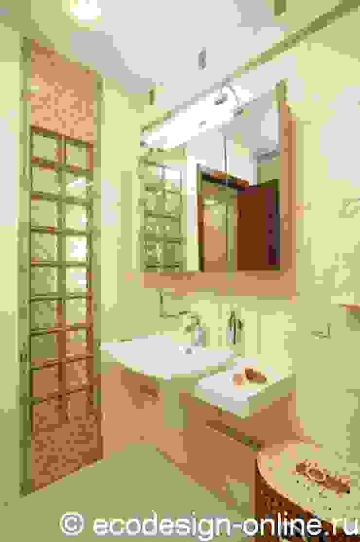 Стеклоблоки в интерьере ванны Ванная комната в стиле минимализм от Ольга Макарова (Экодизайн) Минимализм