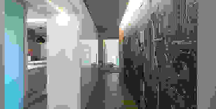 Piso en Euba.. Pasillos, vestíbulos y escaleras de estilo moderno de Estudio TYL Moderno