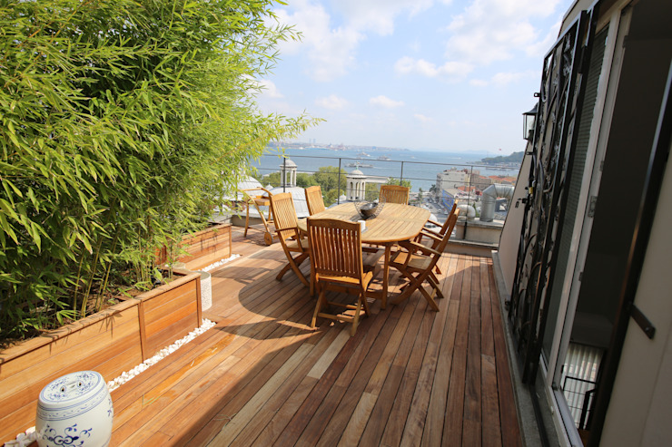 Terrace Modern Oturma Odası Esra Kazmirci Mimarlik Modern