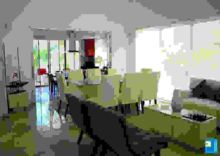 estancia: Comedores de estilo  por Excelencia en Diseño, Moderno