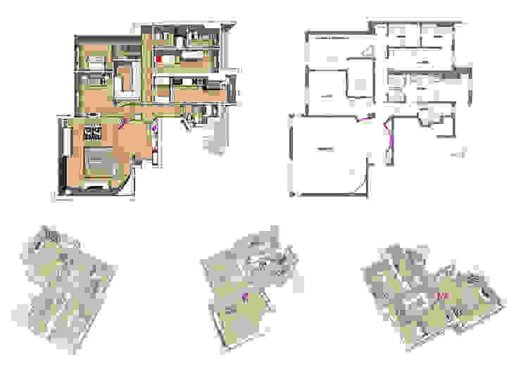 Milanese apartment di Abad Architetti Srl Moderno