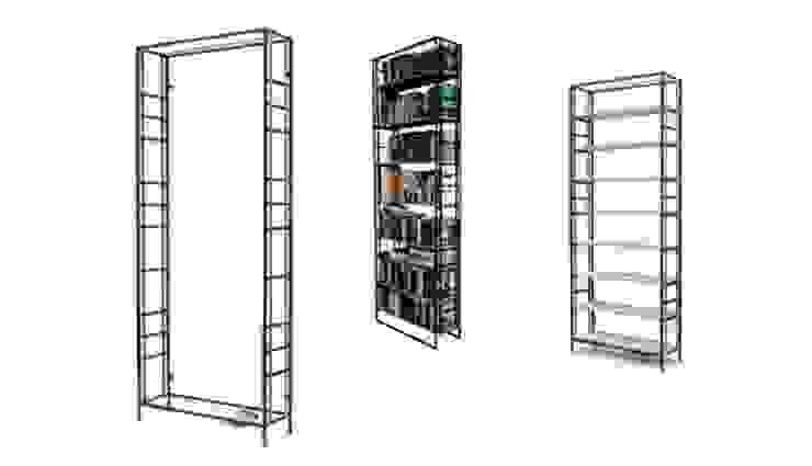 Buchspanner Regal Industriale Arbeitszimmer von ADUS.design Inh. Manuel Pfahl Industrial
