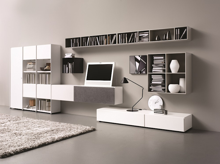 Lugano Wohnwand Moderne Wohnzimmer von BoConcept Germany GmbH Modern