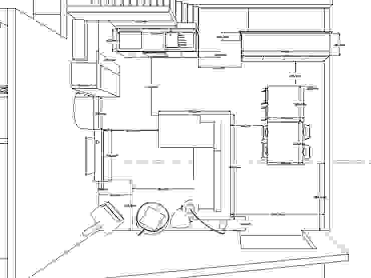 Le 16 - Recherches et plan Espace de vie 1er étage par Aurélie Ronfaut dite Thi-Lùu Moderne