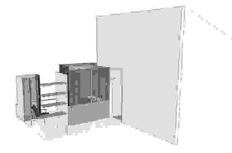 Le 16 - Recherches et plan salle de bain étage 1 par Aurélie Ronfaut dite Thi-Lùu Moderne